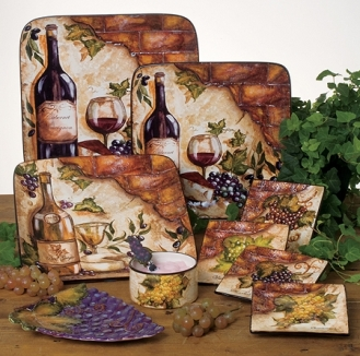 Wine Cellar Tableware by Tre Sorelle Studios/Certified International