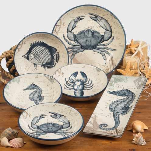 Coastal Postcard Tableware by Tre Sorelle Studios/Certified International