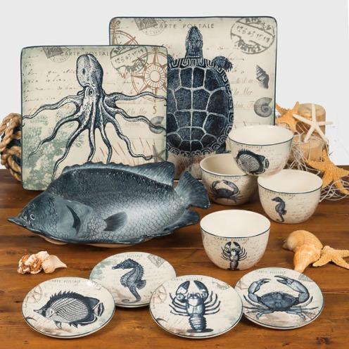 Coastal Postcard Tableware by Tre Sorelle Studios/Certified International