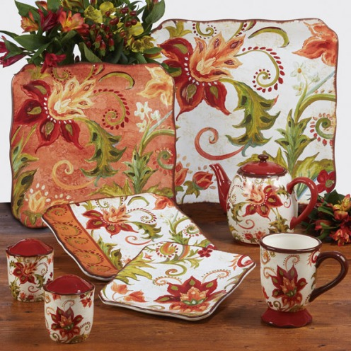 Spice Flowers Dishes by Tre Sorelle Studios/Certified International