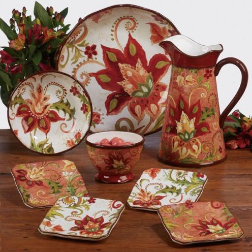 Spice Flowers Tableware by Tre Sorelle Studios/Certified International