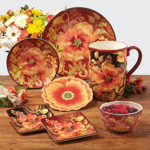 Watercolor Poppies Tableware by Tre Sorelle Studios/Certified International